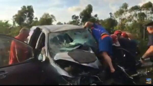Страшная авария на трассе Кобулети- Батуми - Sputnik საქართველო