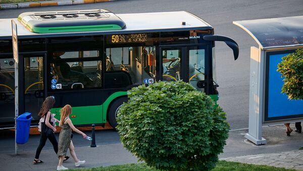 მწვანე ავტობუსი MAN - Sputnik საქართველო