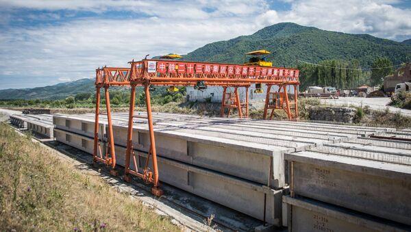 რკინიგზის მშენებლობა ქვიშხეთში - Sputnik საქართველო