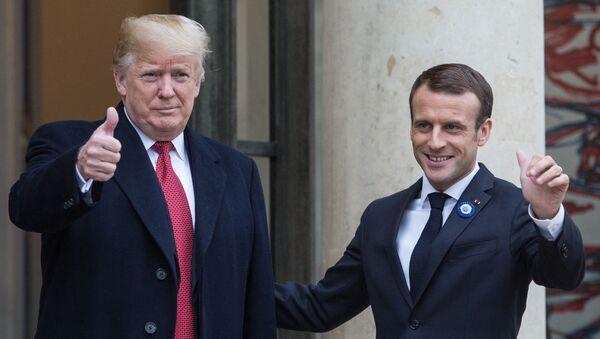 Встреча Э. Макрона и Д.Трампа в Париже - Sputnik Грузия