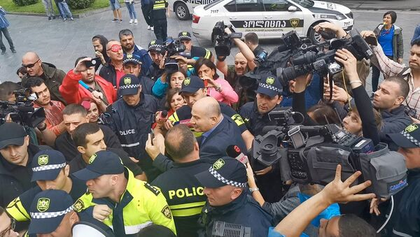 Эмзар Квициани на Акции протеста у парламента Грузии. 8 сентября 2019 - Sputnik Грузия