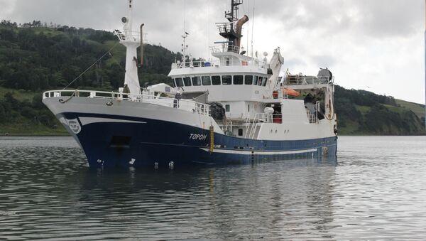 К пирсу подходит подходит судно с тоннами рыбы в трюмах - Sputnik Грузия