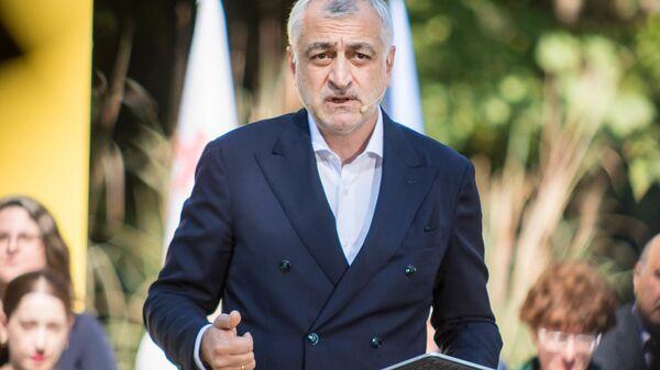 Мамука Хазарадзе представляет общественности своих сторонников - Sputnik Грузия