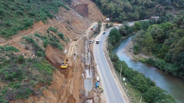 Строительство дороги на Рикотском перевале - Sputnik Грузия