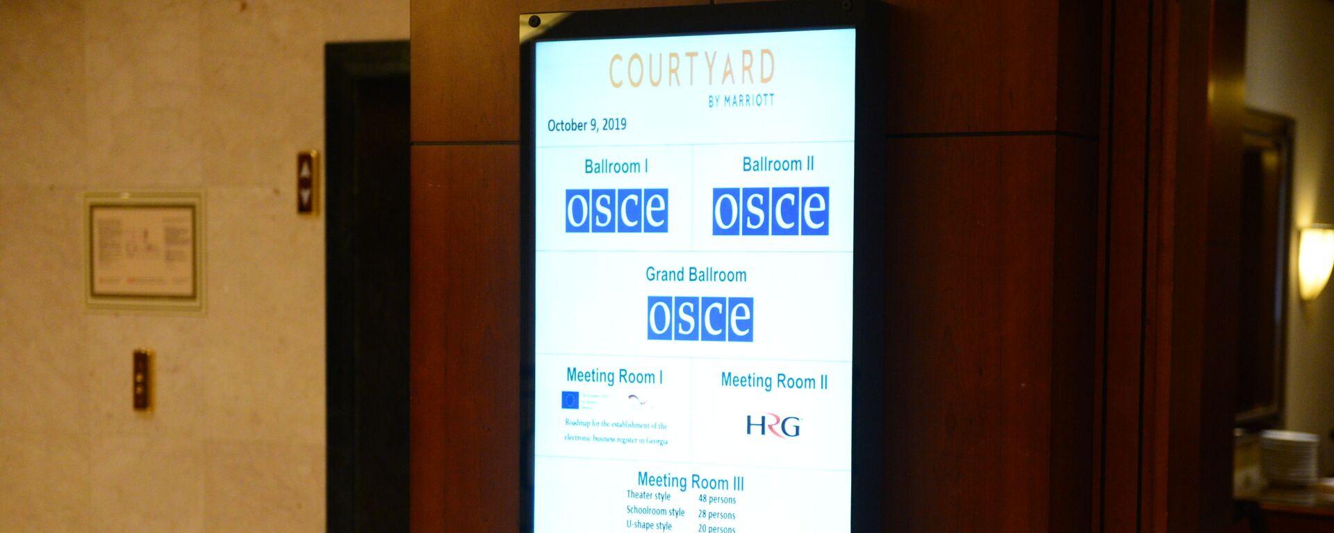 Конференция ОБСЕ в Тбилиси по вопросам свободы СМИ - Sputnik Грузия, 1920, 27.08.2021