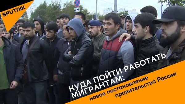 Куда пойти работать мигрантам: новое постановление правительства России - Sputnik Грузия