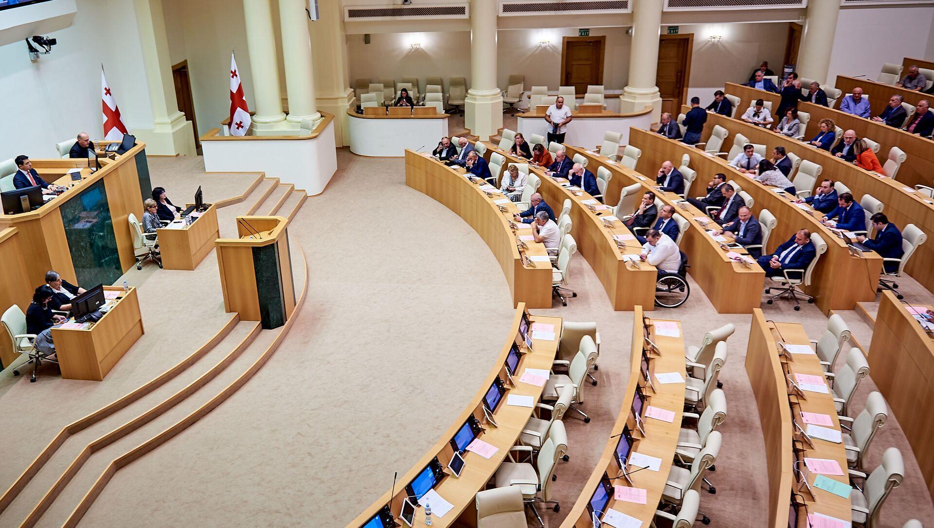 Заседание парламента Грузии. Депутаты - Sputnik Грузия, 1920, 01.02.2021