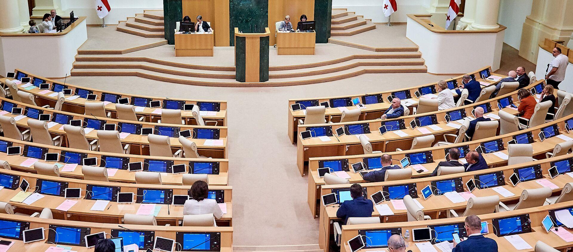 Заседание парламента Грузии. Депутаты - Sputnik Грузия, 1920, 28.01.2021