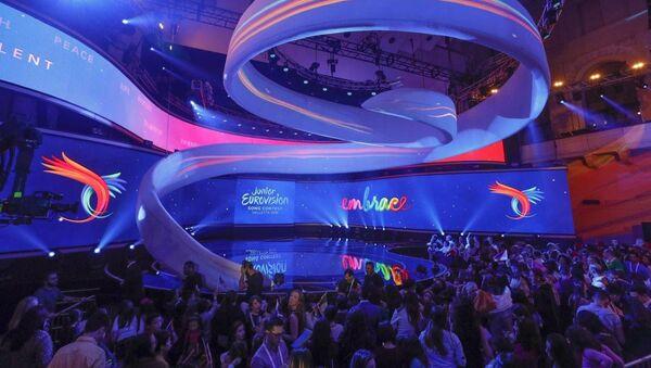Сцена музыкального конкурса Junior Eurovision. Архивное фото - Sputnik Грузия
