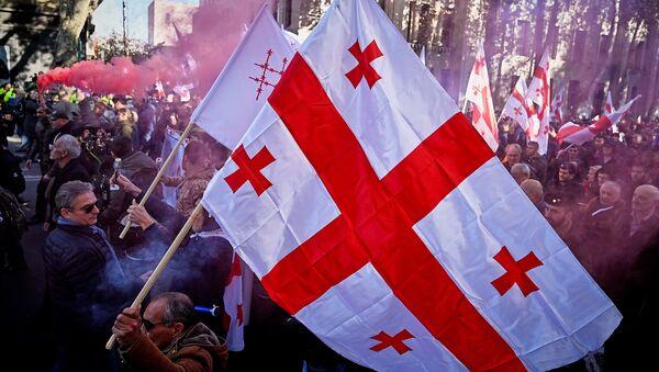 Акция протеста оппозиции у здания парламента Грузии, архивное фото - Sputnik Грузия