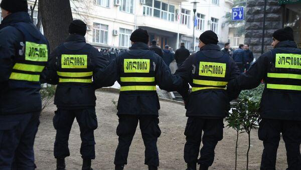 პოლიცია საპროტესტო აქციაზე - Sputnik საქართველო