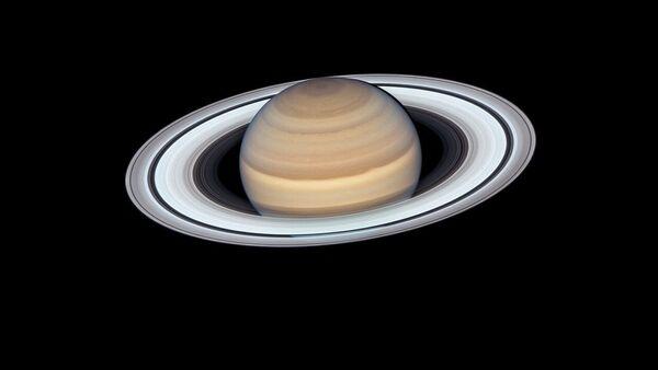 ტესკოპ ჰაბლით გადაღებული სატურნის ფოტო - Sputnik საქართველო
