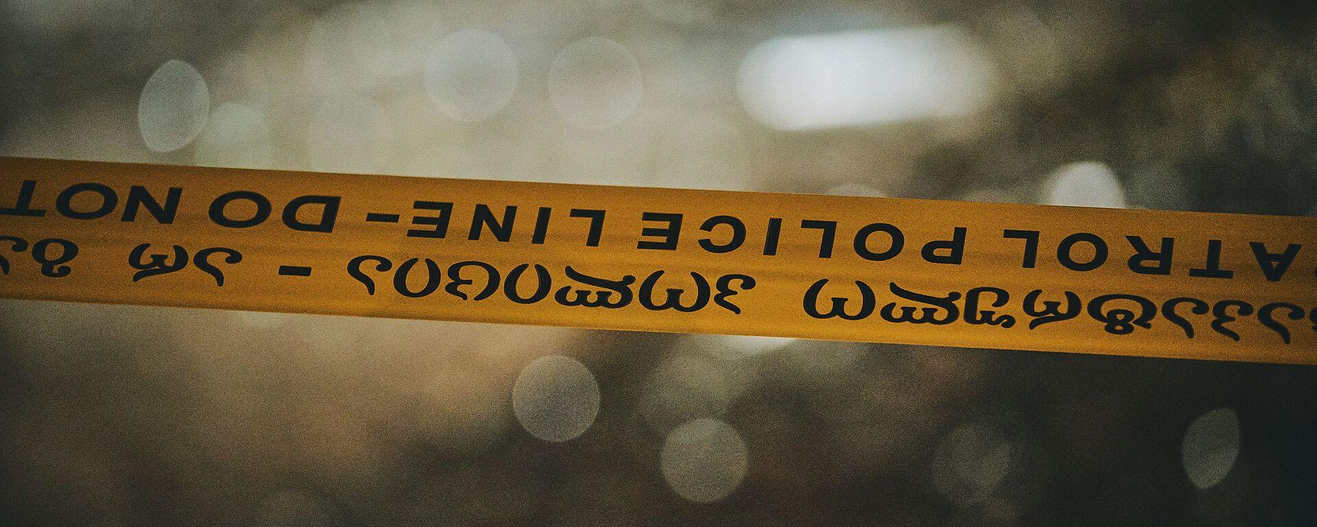Полицейская лента на месте ЧП - Sputnik Грузия, 1920, 23.04.2021