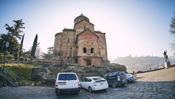 Вид на город Тбилиси - Метехская церковь - Sputnik Грузия