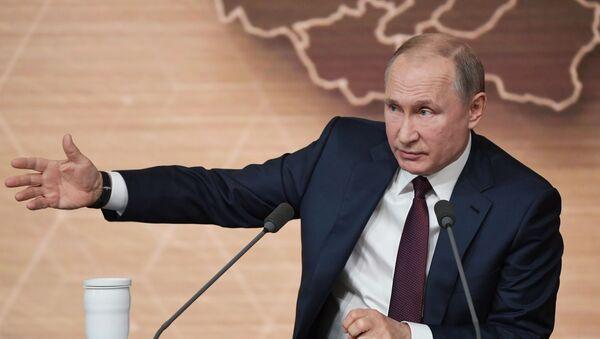 Ежегодная большая пресс-конференция президента РФ В. Путина - Sputnik Грузия