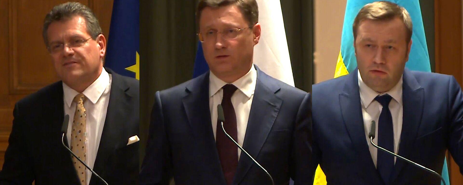 Россия и Украина достигли соглашения по транзиту газа на переговорах в Германии - Sputnik Грузия, 1920, 21.12.2019
