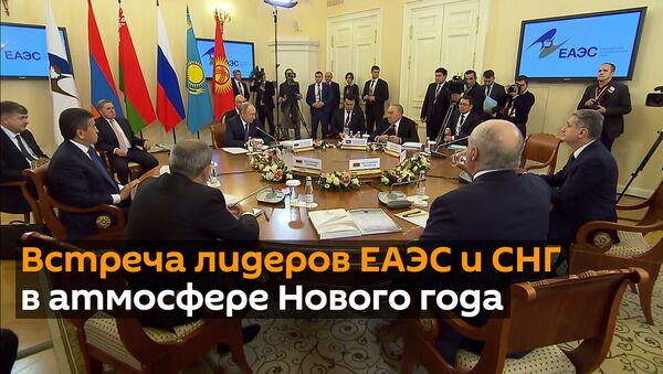 Пробки и кот в мешке: предновогодняя встреча лидеров ЕАЭС и СНГ - Sputnik Грузия