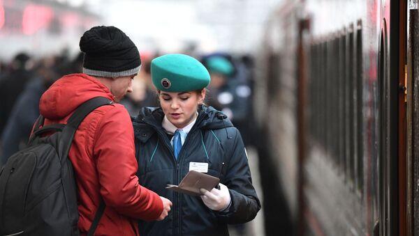 Отправление поезда Таврия из Санкт-Петербурга в Крым - Sputnik Грузия