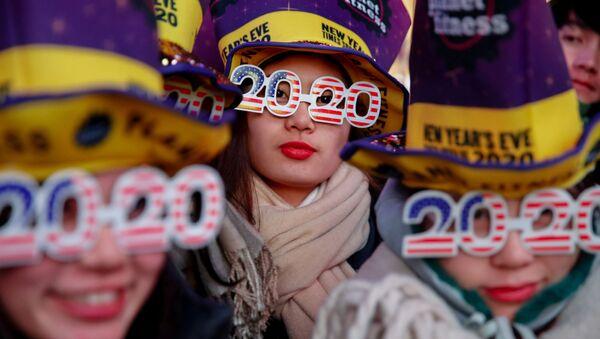 Празднование Нового года на Таймс-сквер  в Нью-Йорке  - Sputnik Грузия