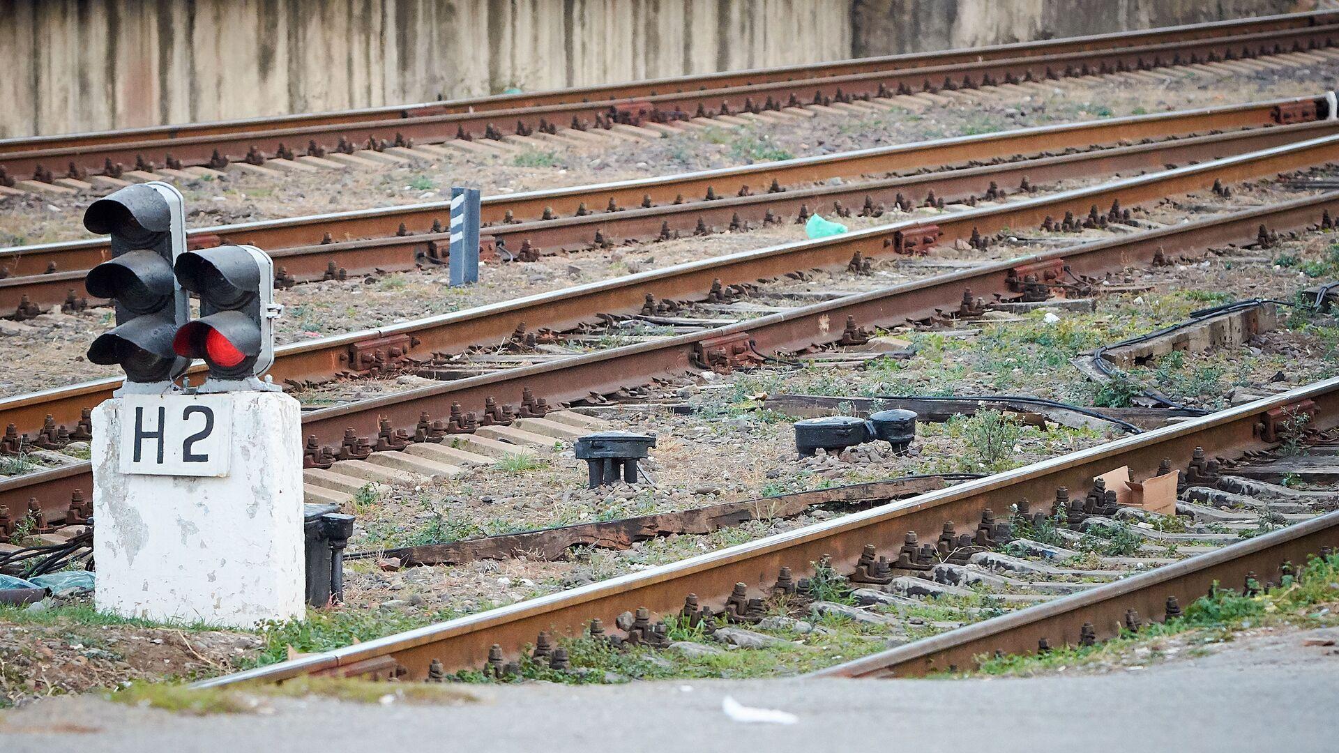 Железнодорожные пути. Рельсы на тбилисском железнодорожном вокзале - Sputnik Грузия, 1920, 08.10.2021