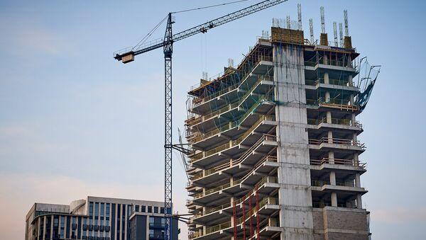 Строительство нового жилого дома в Сабуртало на улице Шартава - Sputnik Грузия