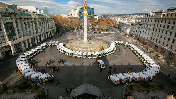 Машины скорой помощи на площади Свободы - Sputnik Грузия