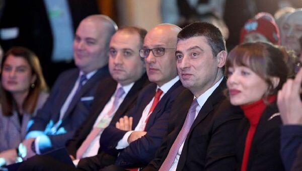 Георгий Гахария на Всемирном экономическом форуме в Давосе - Sputnik Грузия