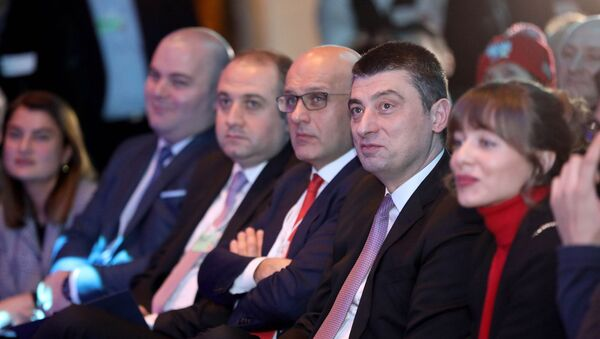 Премьер-Министр Грузии Георгий Гахария во время официального визита - Sputnik Грузия