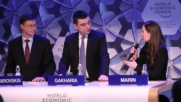 Премьер-министр Грузии Георгий Гахария на Всемирном экономическом форуме в Давосе - Sputnik Грузия