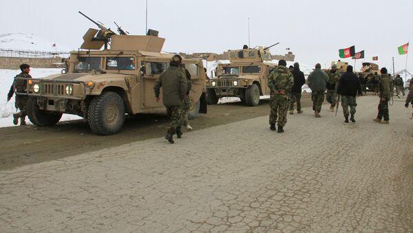 Афганские силы безопасности направляются к месту крушения самолета - Sputnik Грузия