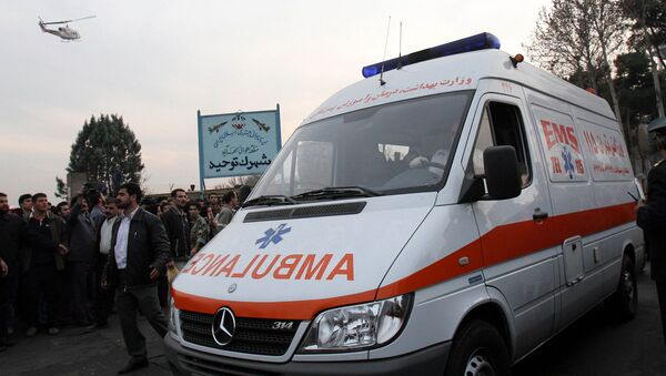 Карета скорой помощи в пригороде столицы Ирана (6 декабря 2005). Тегеран - Sputnik Грузия