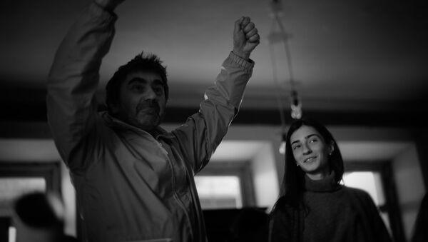 Режиссер Георгий Овашвили на съемках своего фильма Прекрасная Елена - Sputnik Грузия