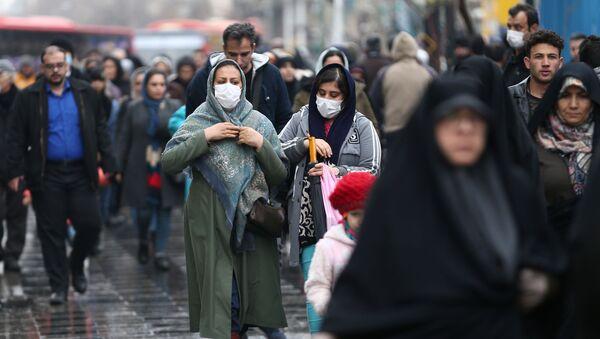 ირანის მოსახლეობა ნიღბებით - Sputnik საქართველო