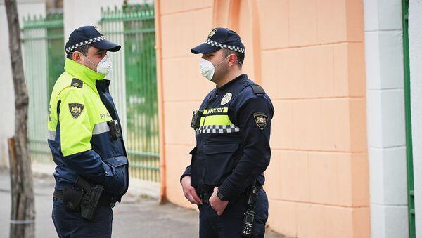 პოლიციელები ნიღბებით  - Sputnik საქართველო