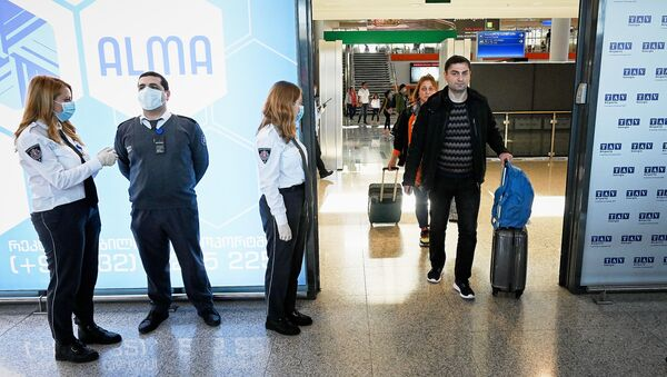 მგზავრები თბილისის აეროპოტში - Sputnik საქართველო