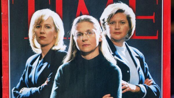 Синтия Купер из Wordcom, Колин Роули из ФБР и Шеррон Уоткинс из Enron, которых журнал Time назвал «Человеком года» - Sputnik Грузия