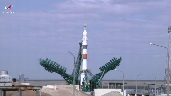 Как Союз МС-16 с экипажем стартовал с космодрома Байконур - видео - Sputnik Грузия