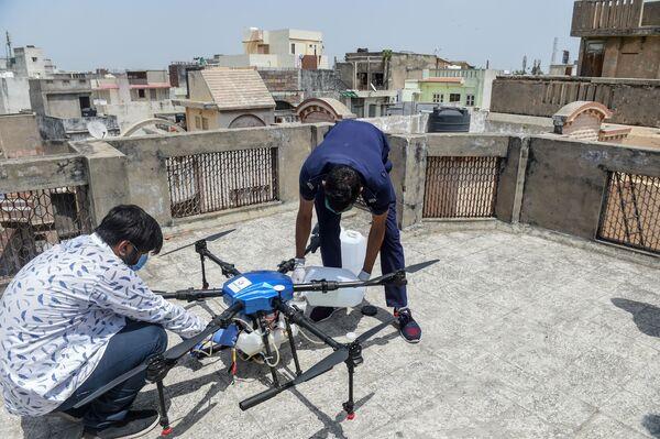 Подготовка к испытаниям беспилотника в Ахмедабаде в Индии - Sputnik Грузия