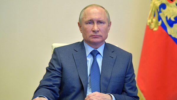 Президент РФ В. Путин провел совещание по вопросу санитарно-эпидемиологической обстановки - Sputnik Грузия
