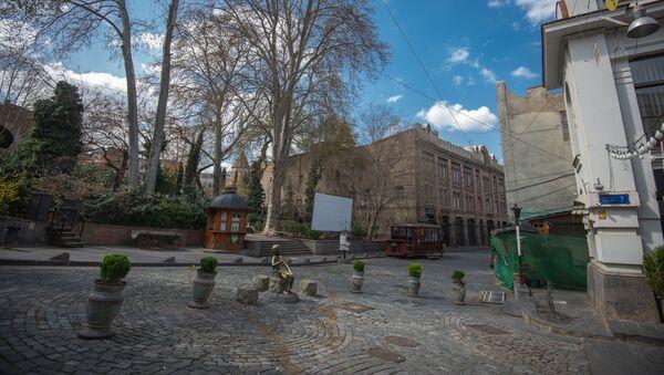 Пустые улицы в центре Тбилиси - нет жителей и туристов - Sputnik Грузия