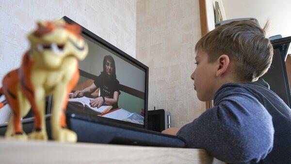 Дистанционное обучение школьников  - Sputnik Грузия