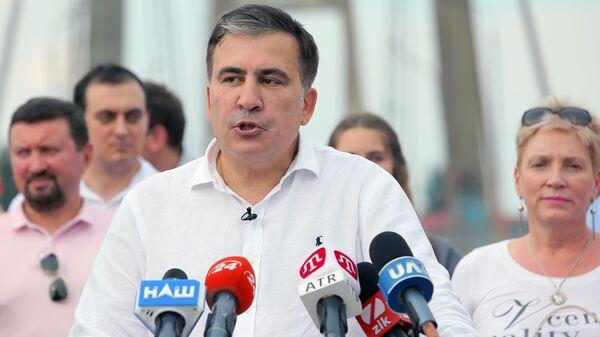 Лидер политической партии Движение новых сил Михаил Саакашвили  - Sputnik Грузия