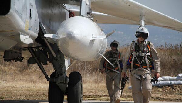Российская боевая авиагруппа на аэродроме Хмеймим в Сирии - Sputnik Грузия
