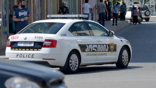 Машина патрульной полиции в городе Рустави - Sputnik Грузия