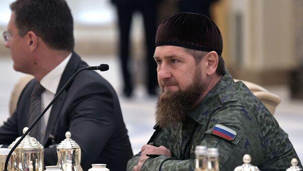 Глава Чеченской Республики Рамзан Кадыров на российско-эмиратских переговорах - Sputnik Грузия