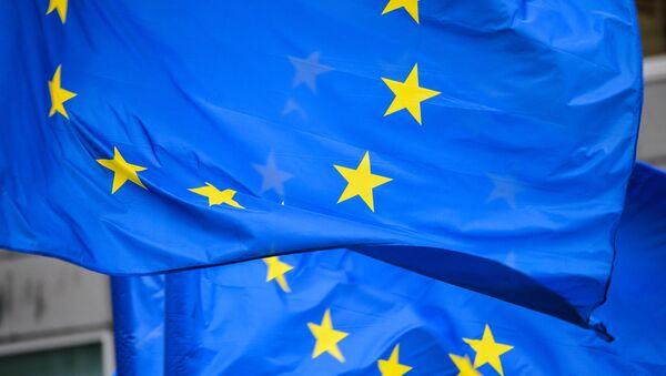 Флаги с символикой Евросоюза - Sputnik Грузия