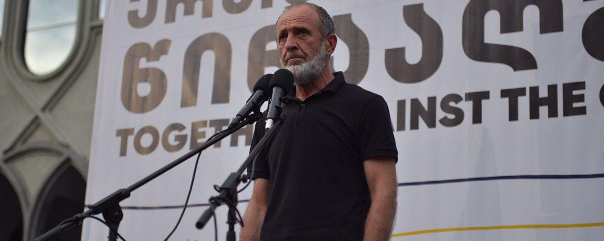 Акция протеста оппозиции у здания парламента 20 июня 2020 года. Малхаз Мачаликашвили - Sputnik Грузия, 1920, 25.08.2021