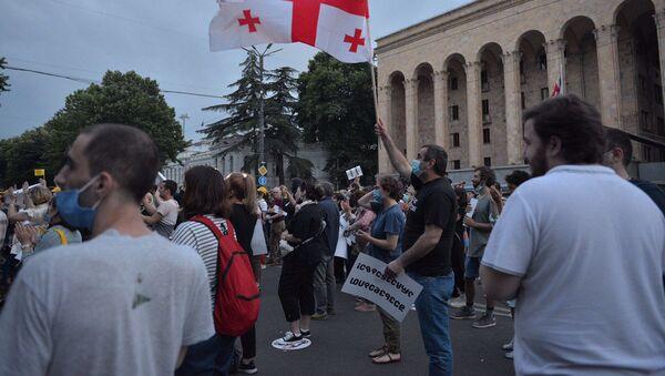 Акция протеста оппозиции у здания парламента 20 июня 2020 года - Sputnik Грузия