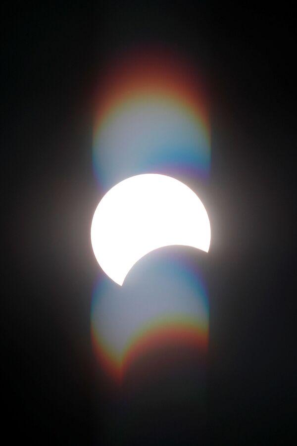 Частичное солнечное затмение в Египте  - Sputnik Грузия