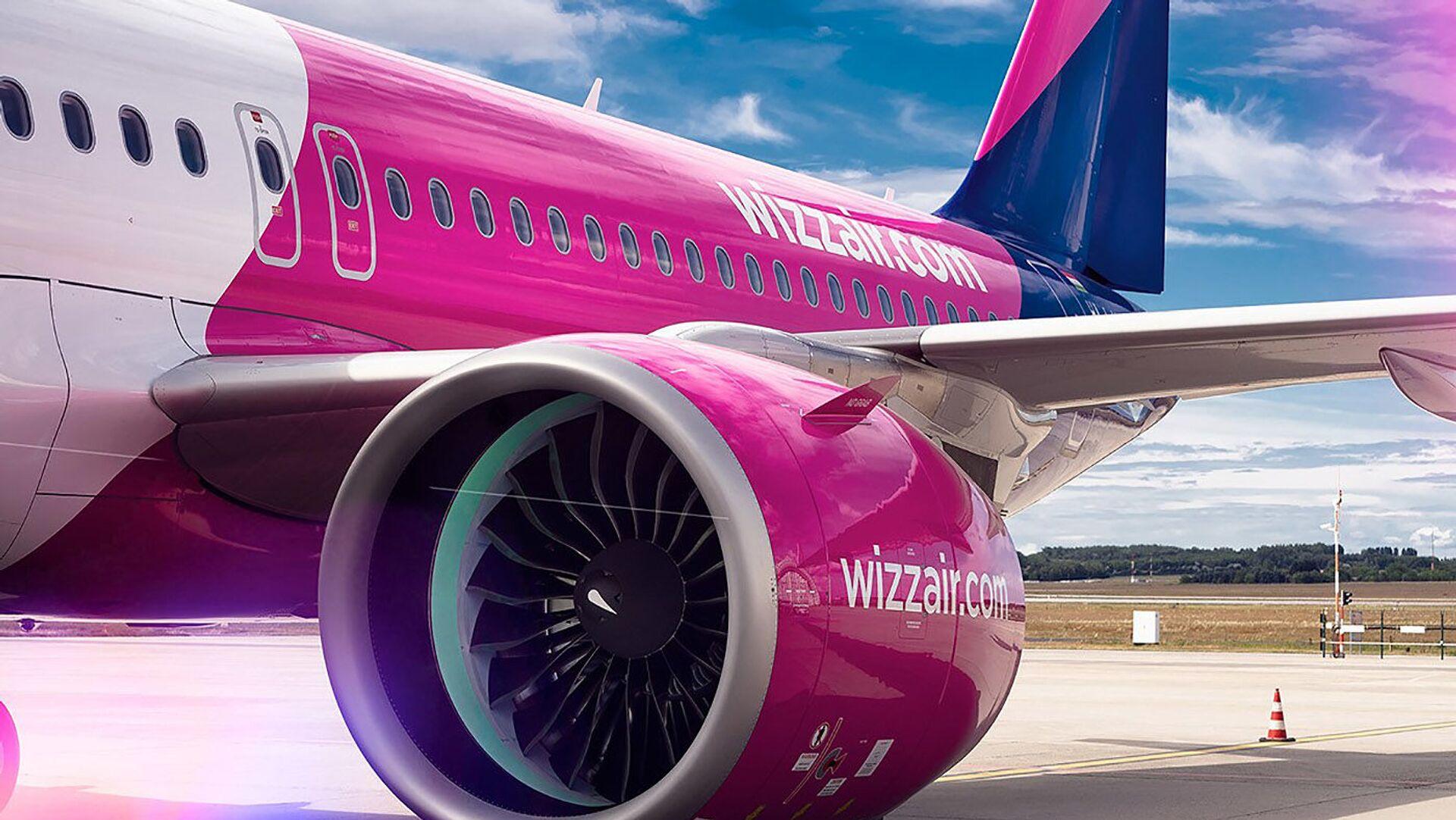 Пассажирский самолет авиакомпании Wizz Air - Sputnik Грузия, 1920, 28.09.2021